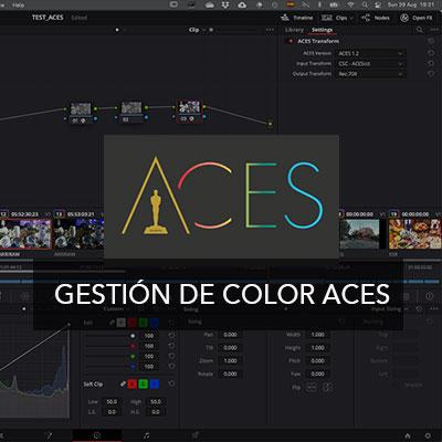 Curso online aces color management